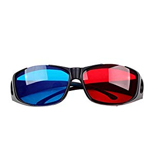 GABREBI Big Bargain 3  Blue Cyan NVIDIA 3D VISION Myopia General Glasses by Big Bargain Store, elvis auf lsd